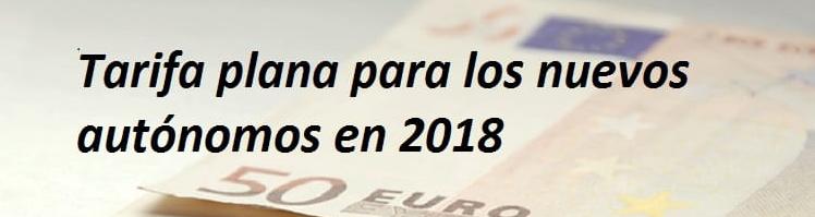 Ampliación tarifa plana de 50 euros para los autónomos
