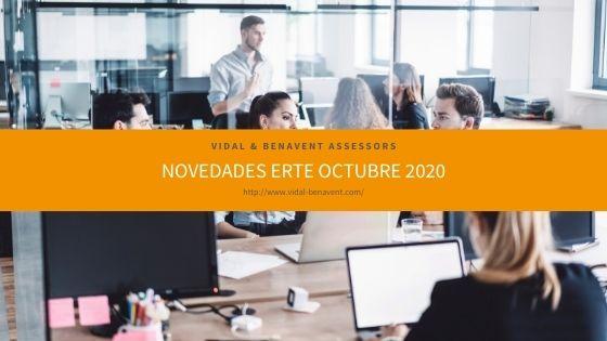 ERTE. Novedades real decreto-Ley octubre 2020